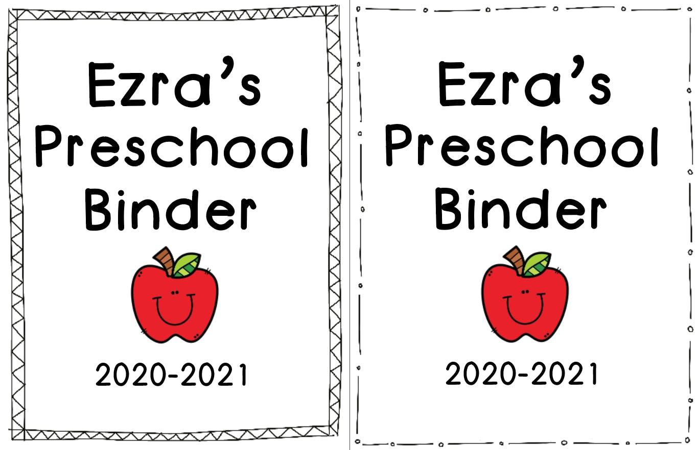 Free Preschool Binder Covers Free Printable Discovering Mommyhood