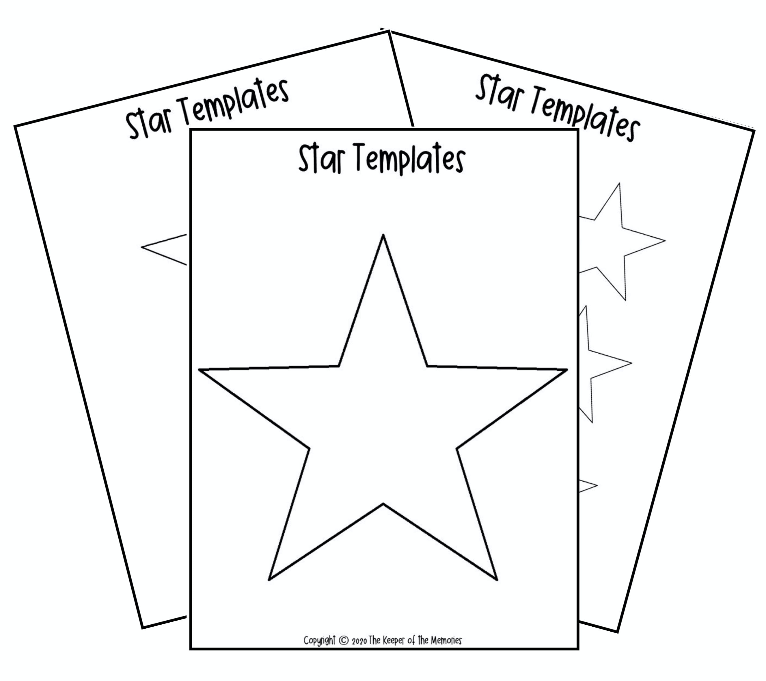 Free Printable Star Template The Keeper Of The Memories