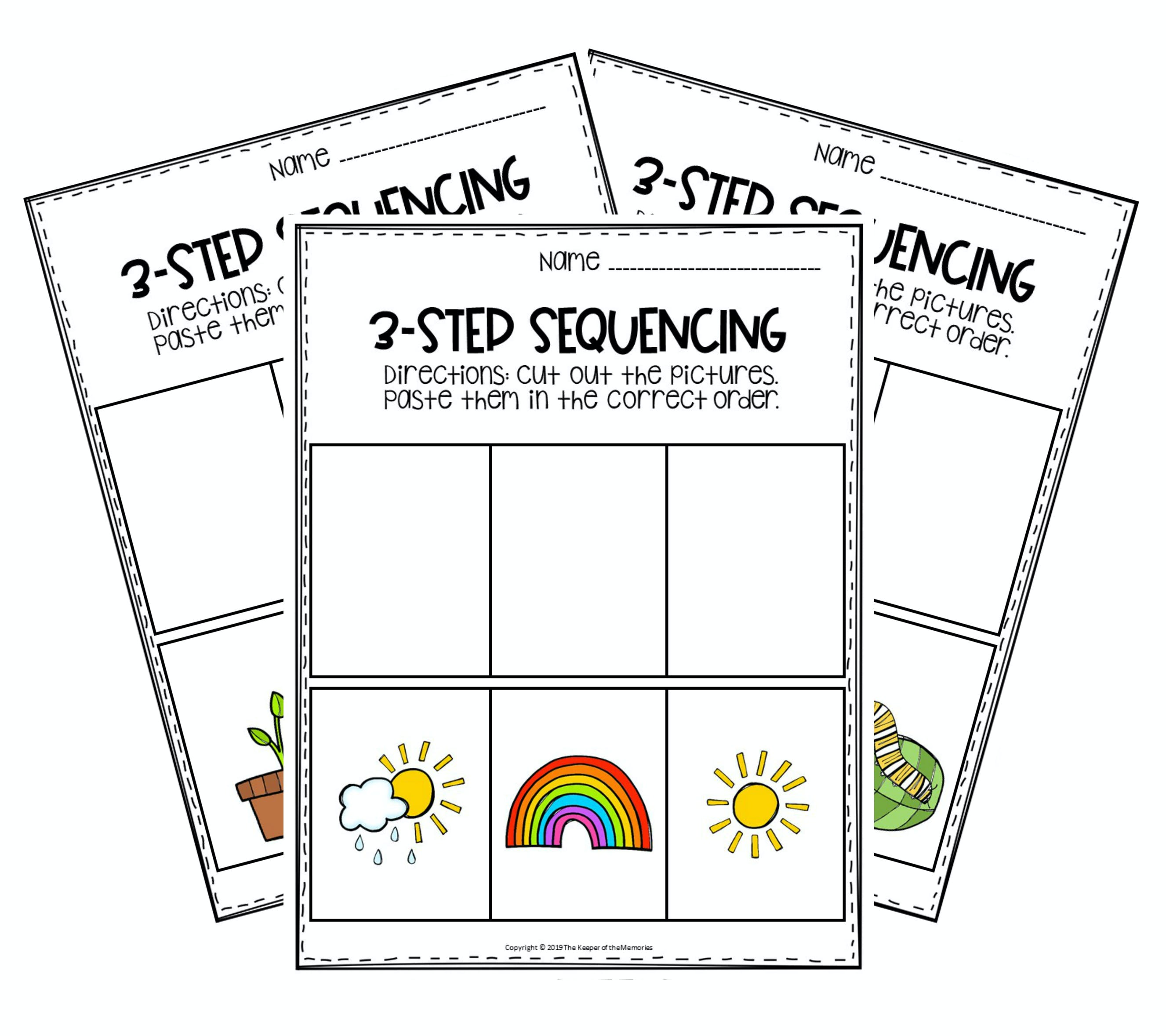 3 Step Sequencing Pictures Printable Free Pdf The Keeper Of The Memories