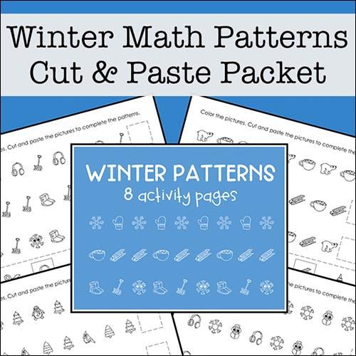 Winter Math Patterns Packet