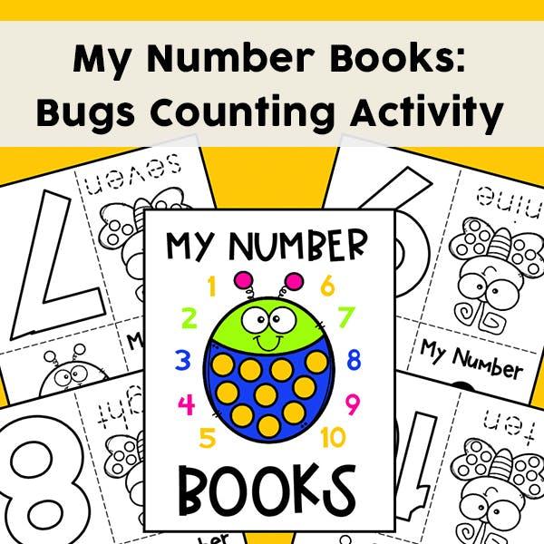 My Numbers Mini Books: Set Of 10 Bug Mini Books (Free Printable)