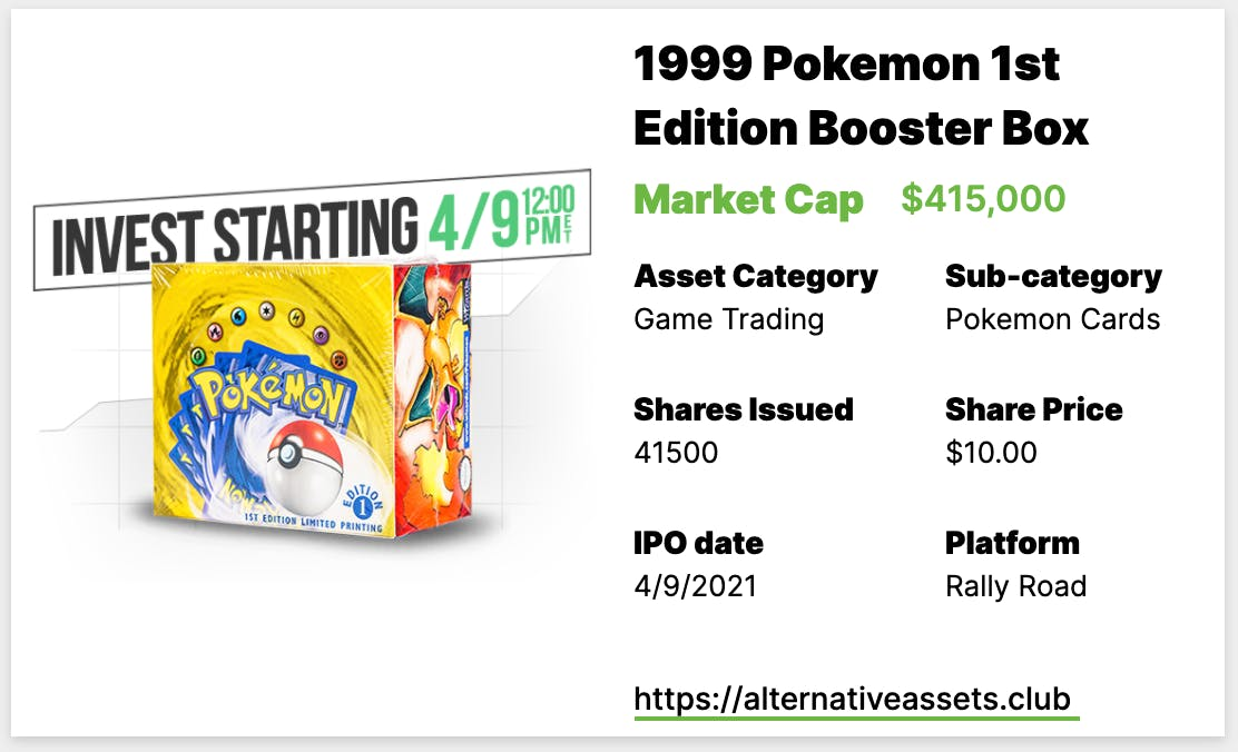 1999 Pokemon 1st Edition Booster Box at Rally Rd