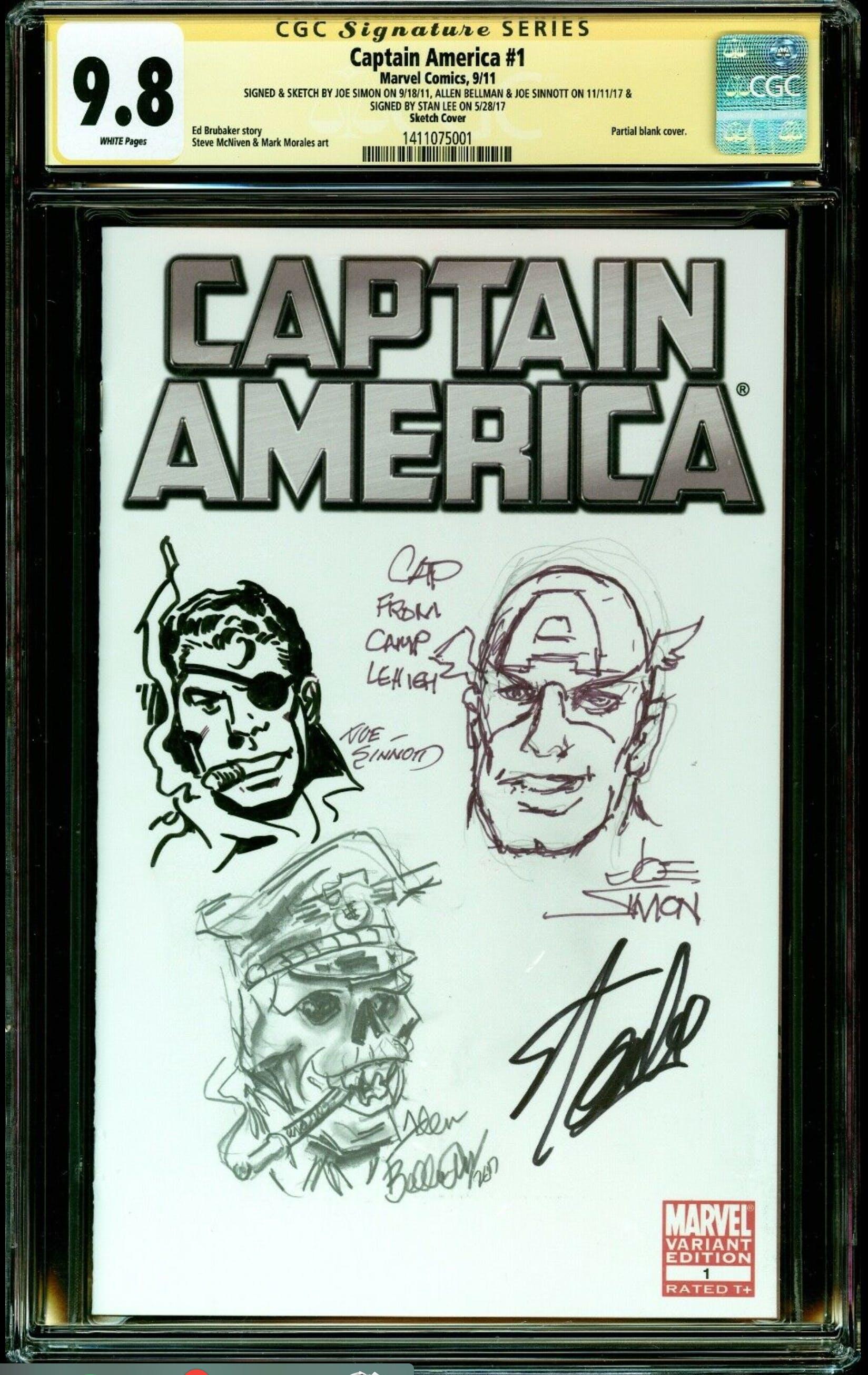 captain america signed sketch