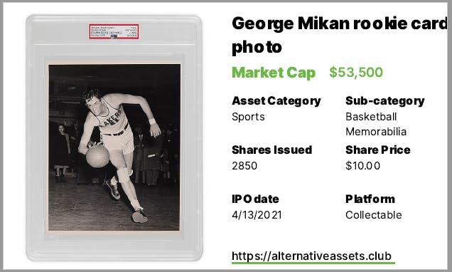 1948 Bowman Rookie George Mikan Original Photo - Free
