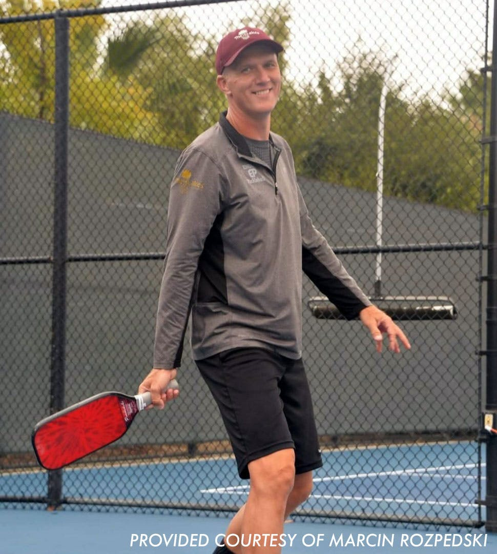 """Why Pro Pickleball Player, Marcin Rozpedski, Is """"On Top of the World"""""""