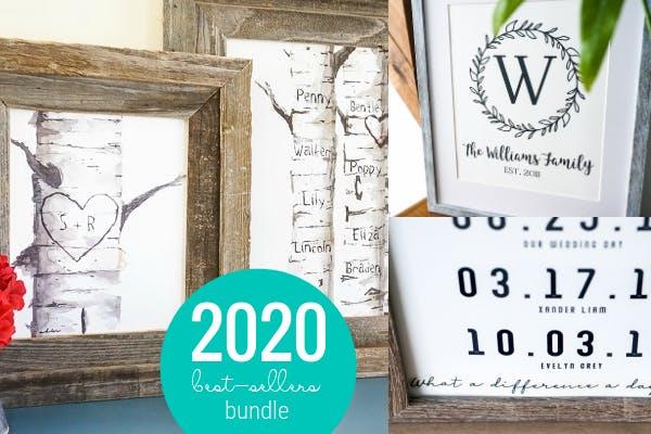 2020 Best-Sellers Personalized Art Bundle