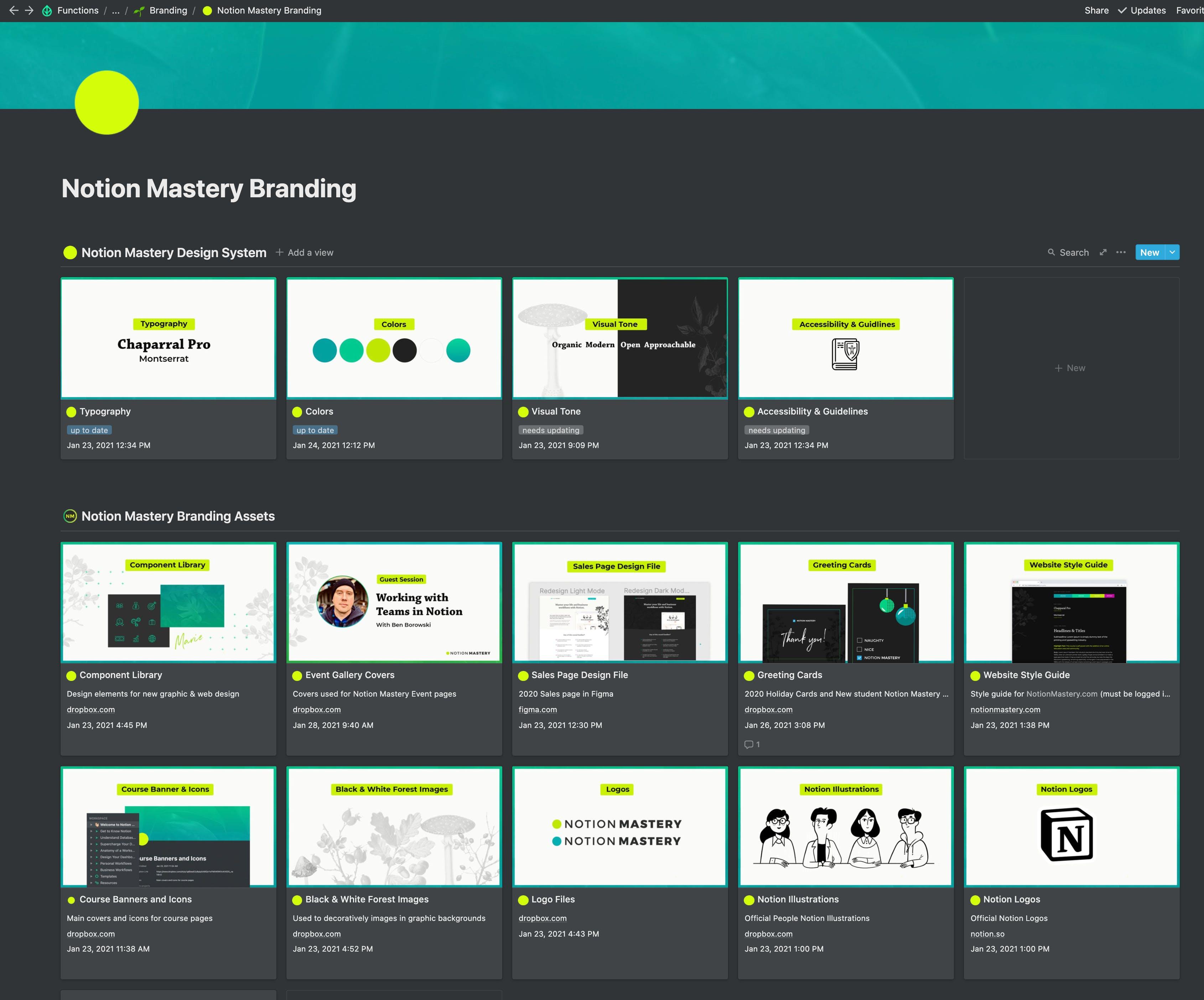 Notion Mastery Branding