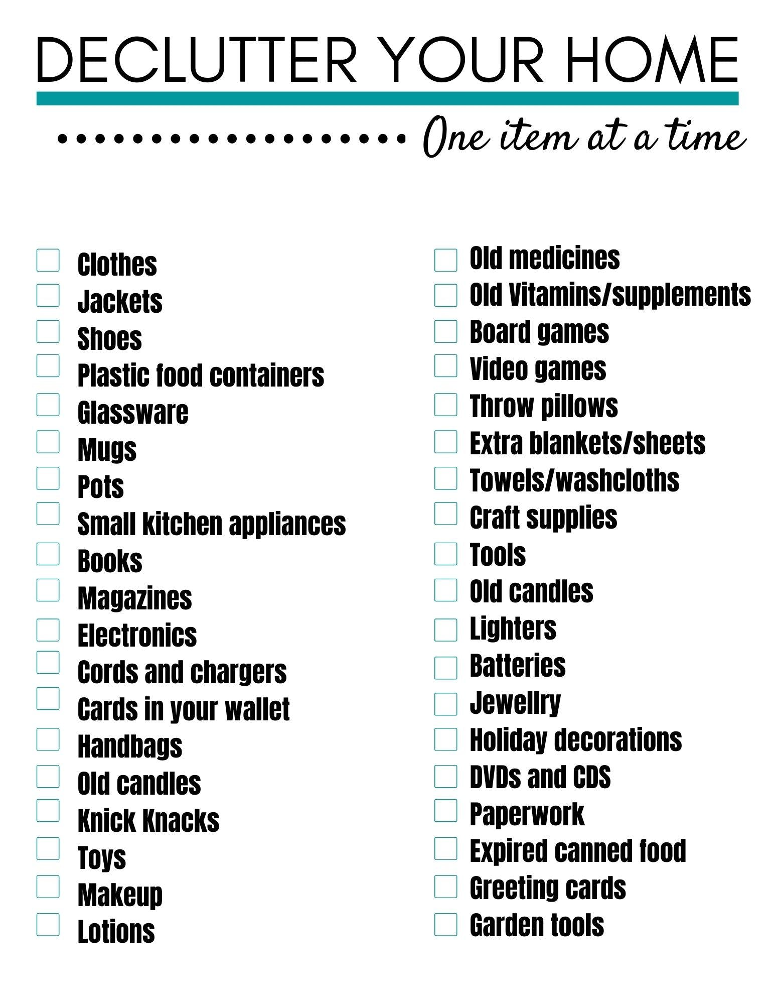 How to Declutter your Home and your Life   With a declutter your ...
