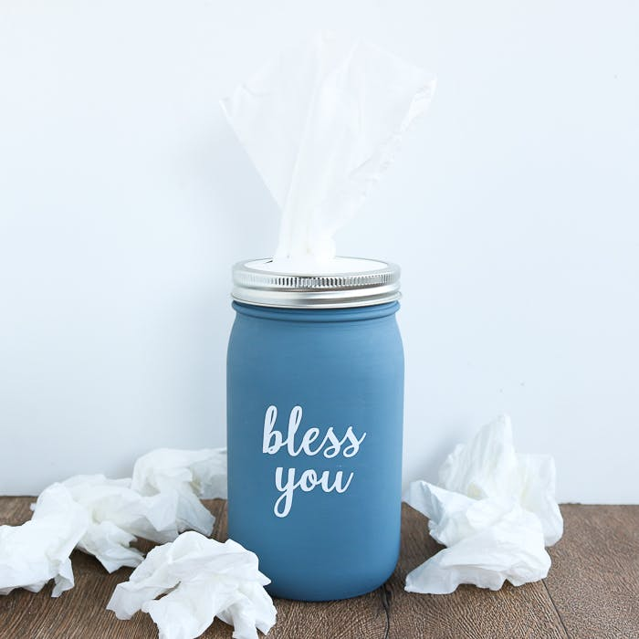 Free Mother's day mason jar bouqet svg file. How To Make A Mason Jar Tissue Holder The Country Chic Cottage SVG, PNG, EPS, DXF File