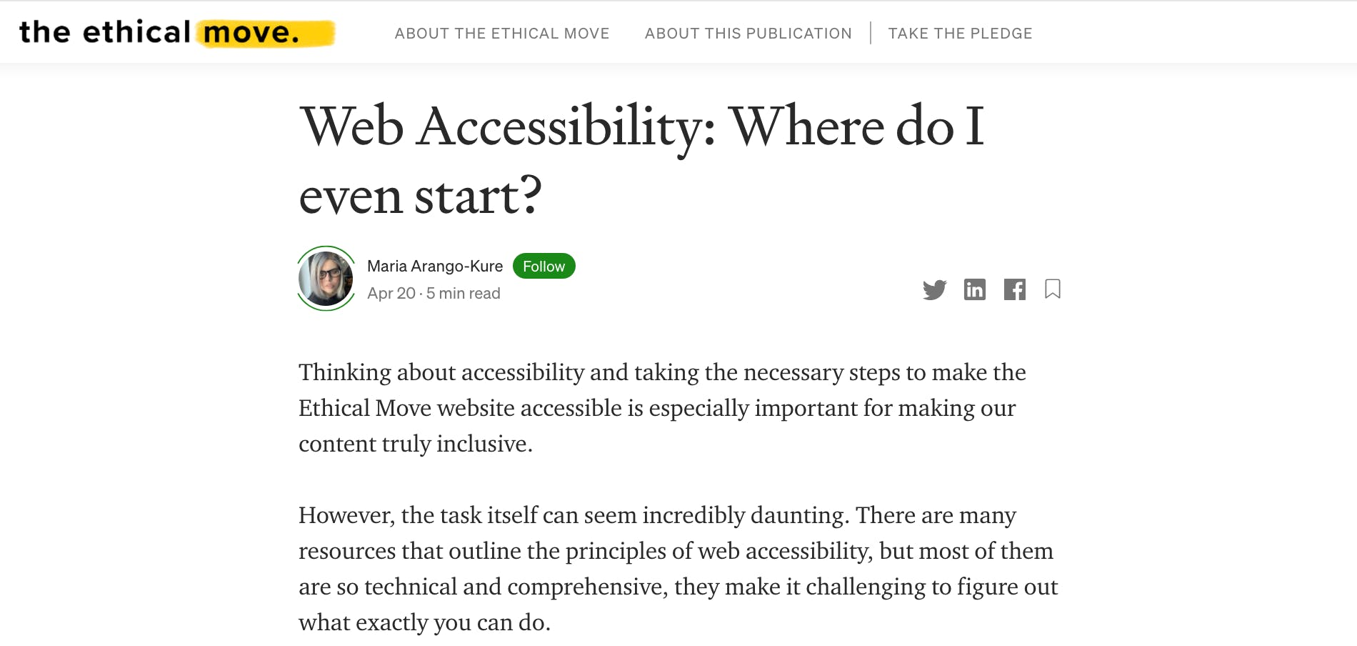 Maria's article on accessibility