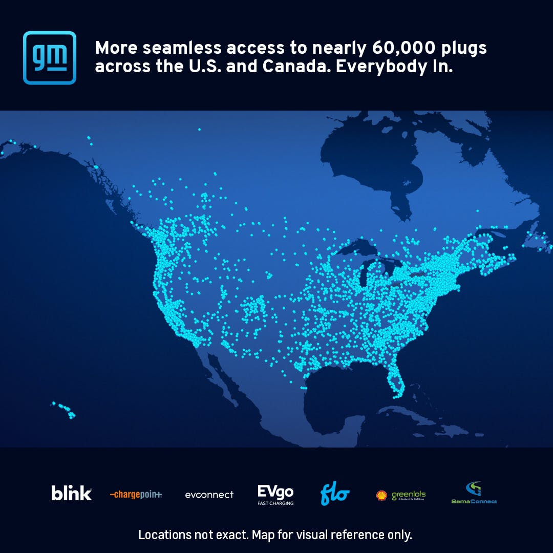 GM's ultium charge 360 network across US