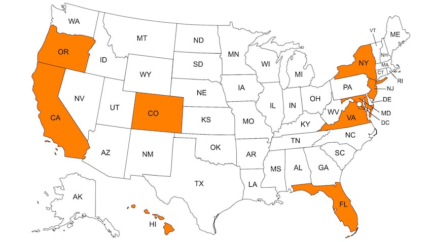 Right-to-Charge US map