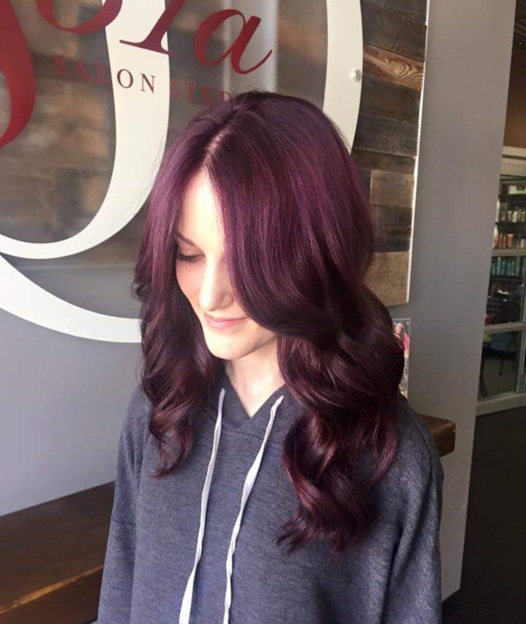 Me with purple hair