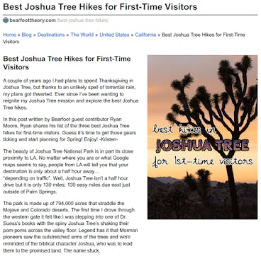Best Joshua Tree Hikes For First Time Visitors
