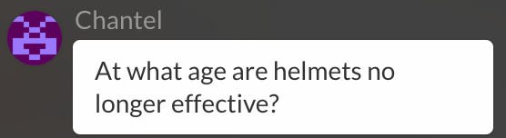 At what age are helmets no longer effective?
