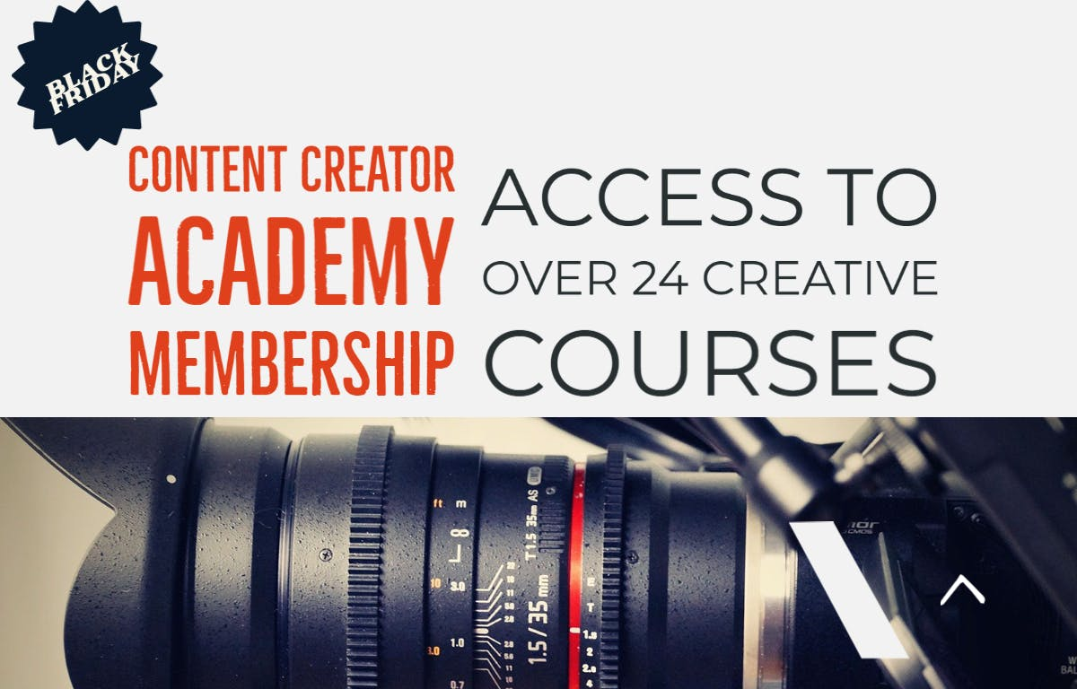 Black Friday Deal 2020 - Videography Courses