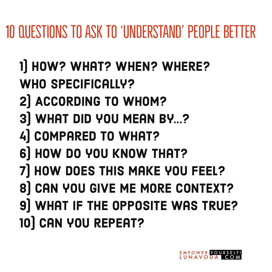 how to understand people better