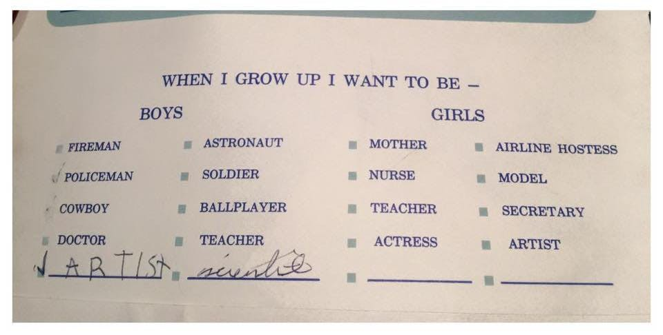 Mike's occupation plan at the age of 5