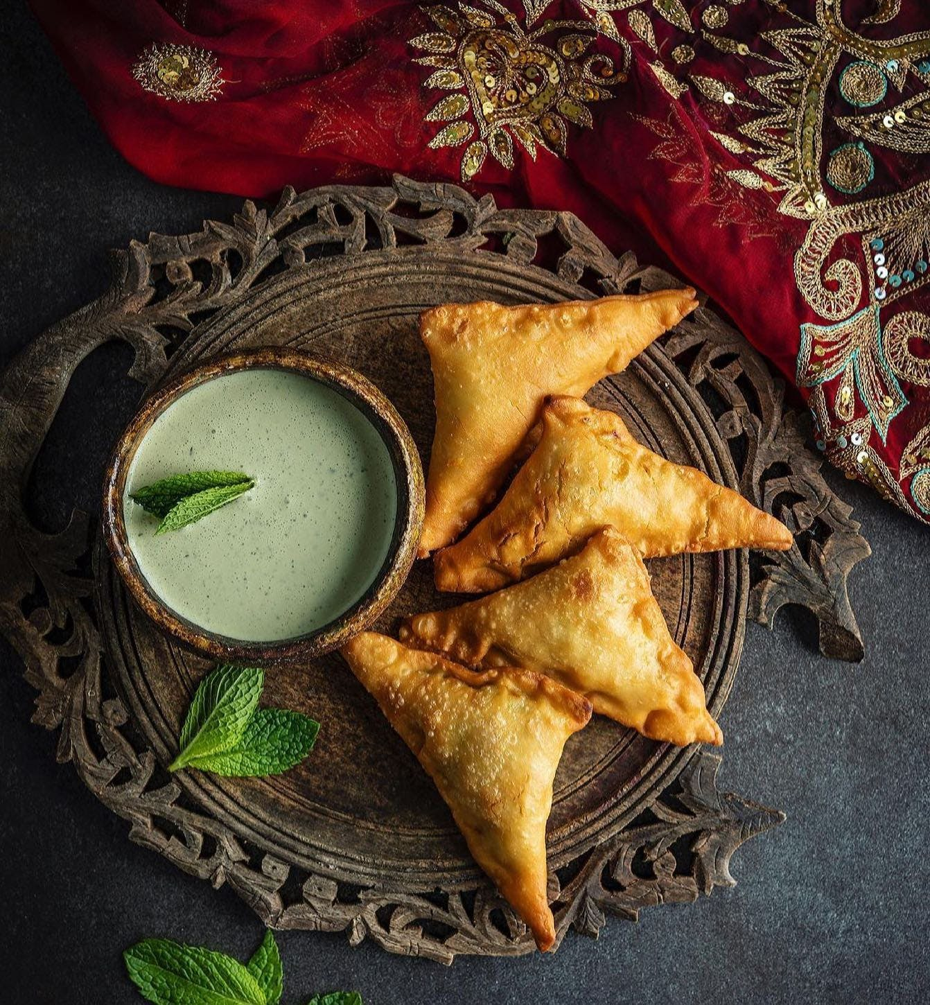 @journeystreetfood samosas are next level and the photography by Emma Jane Sheldrake is pretty special too. Get the recipe for Journey Street Food's Sri Lankan Chicken Curry from @cooknoosa cookbook - out now. Shipping worldwide.  #noosa #caterers #cooknoosa #noosacookbook @visitnoosa  📸 @emma_jane_sheldrake