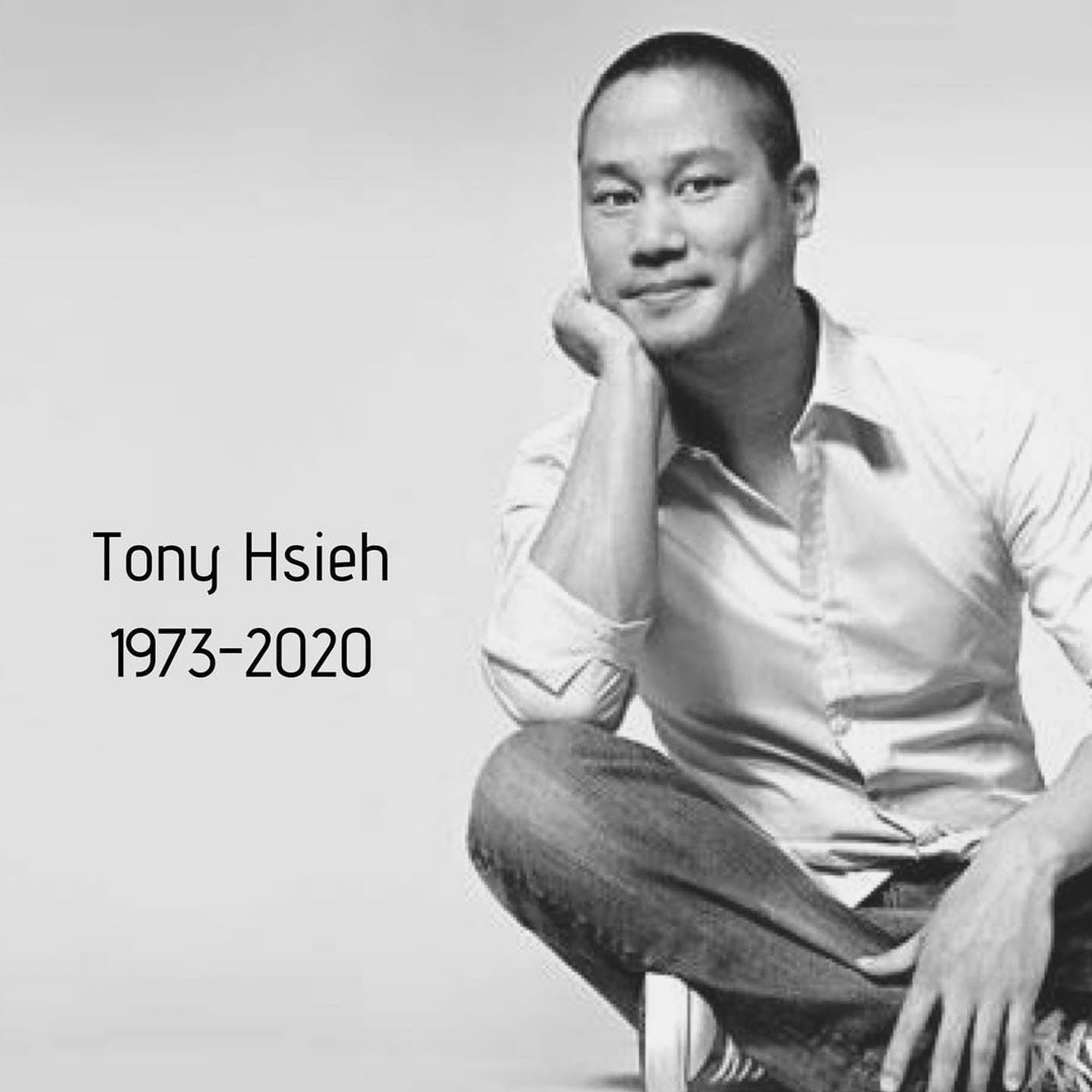 A very sad, tragic loss.   #Repost @downtowntony ・・・ Today we are saddened to share the news of Tony Hsieh's passing.   We can only imagine what he would say if he were here to announce this to you all, but we envision his message would resonate that:  Energy cannot be created or destroyed.   Energy is the ability to bring about change.   Tony has given energy to so many people.   For those of you who knew him well, you knew of his childlike wonder; his love for experiences and relationships over material things.   Let us all feel Tony's energy and use it to deliver happiness.  Posted by Michelle ❤️