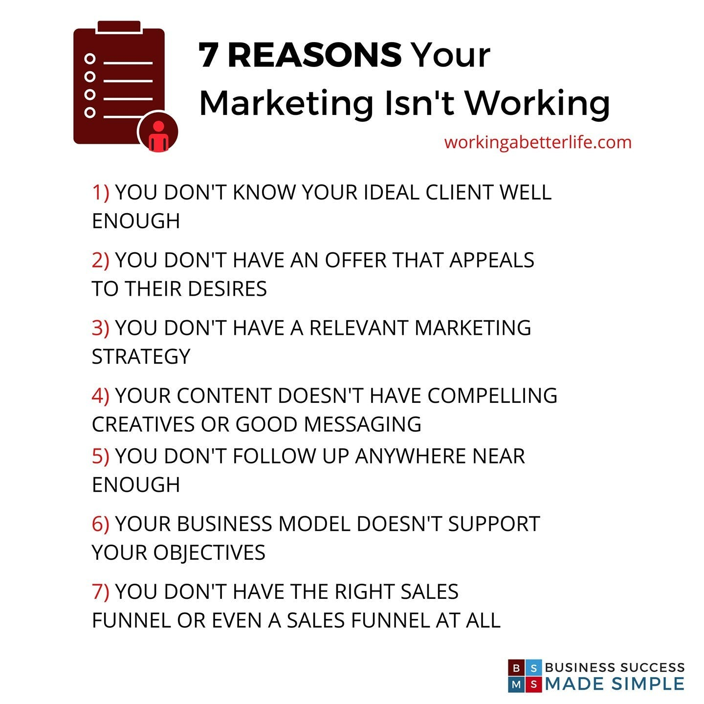 If you are not getting as many bookings or clients as you want, it's down to one of these reasons...    Save this for future reference and if you want help with your marketing DM me...