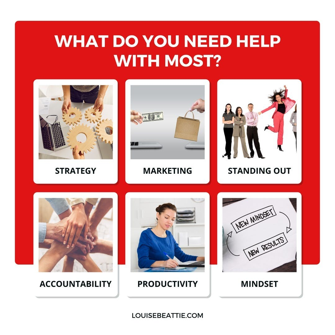 If you could get help with just one thing in your business, which would it be?
