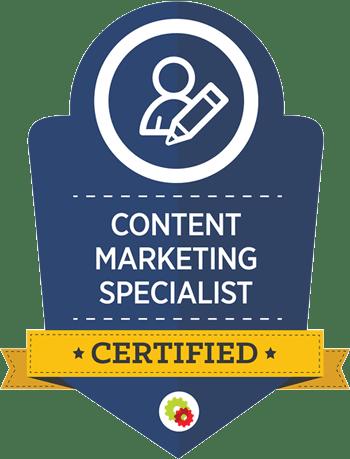 content marketing specialist certified