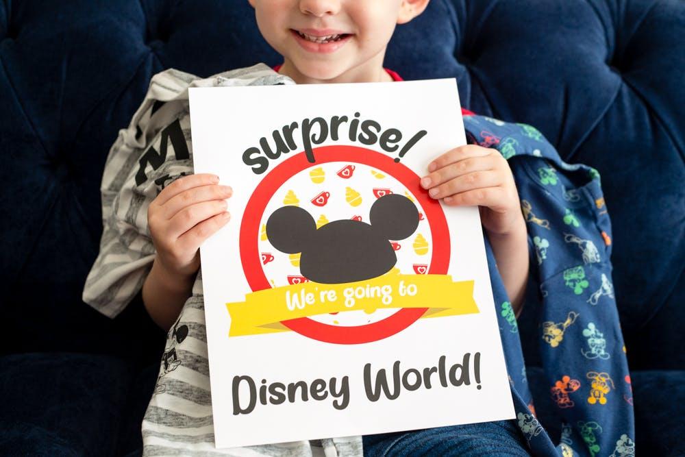Disney Reveal Disney-Inspired Child Crew Tee Disneyland Surprise Surprise We/'re Going To Disneyland