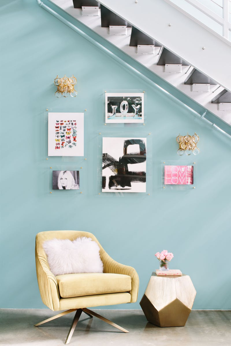 How to hang art like a design pro | 6 Simple Ways to Spruce Up Your Home While Sheltering in Place | gallery wall by Los Angeles and Fort Worth based interior design Jessica McClendon