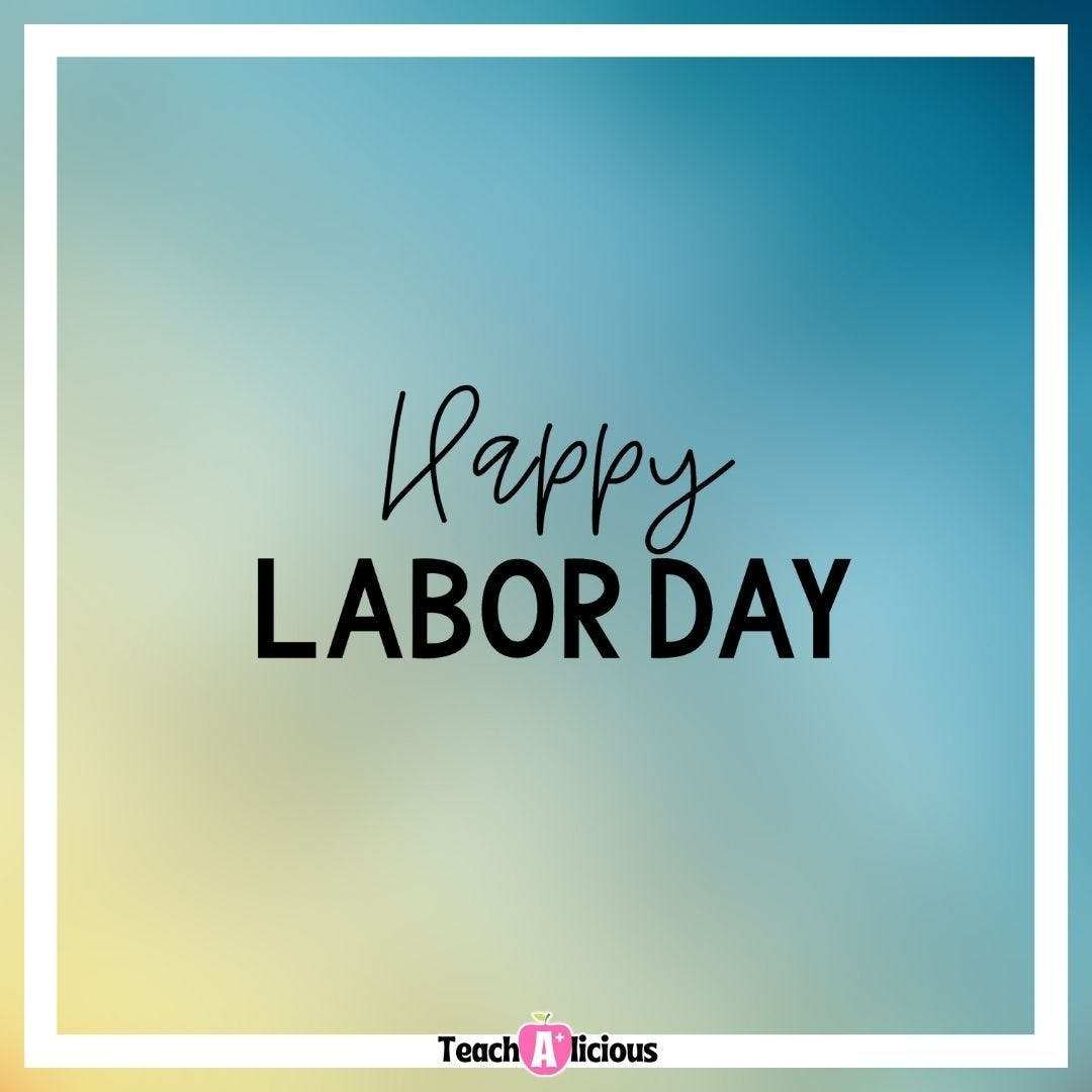Thank you to all the men and women who paved the way so I can be a mom and a teacher and not have to choose one over the other.  #laborday #happylaborday #iteachwhatisyoursuperpower #iteachfirstgrade #teachersfollowteachers #bilingualteachers #iteachkinder #iteachkindergarten
