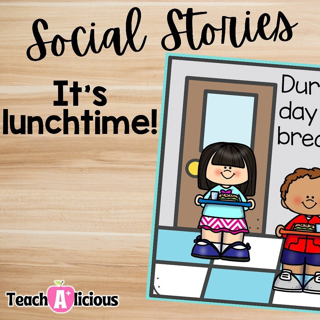Social stories for addressing lunch etiquete! Have you checked out this bilingual ebook?  1. Discuss the book with your class.  2. Identify the wanted behaviors in this social situation.  3. Send B&W copy home to reinforce the expectations discussed in class.   Building community is easy as 1, 2, 3! #teachersofinstagram #teachersfollowteachers #teacher #iteachfirst #iteachfirstgrade #classroomhack