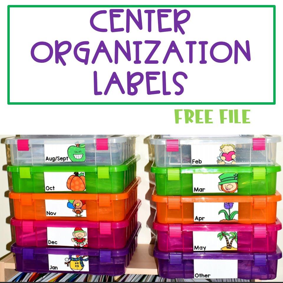 Center Materials Organization Ideas (FREE file) 1