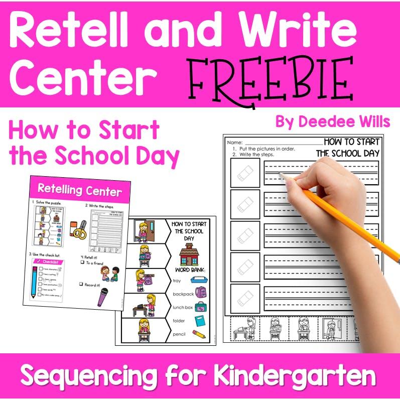 Retelling Activities for Kindergarten | FREEBIE 1