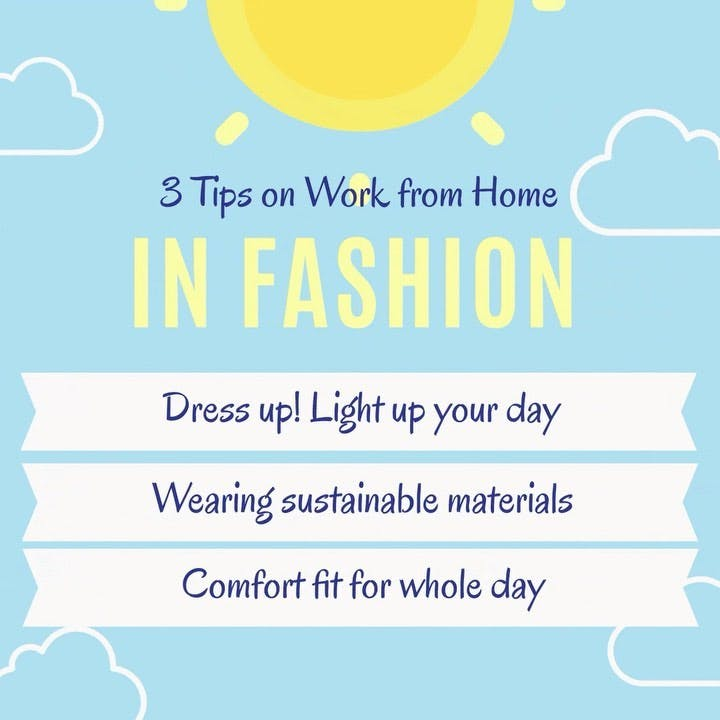 3 tips on #wfh DRESS UP! Light up your day🌞 Wear in #SUSTAINABLE materials 🌎 #COMFORT fit for whole day 😌   #avantheme #fashiontips #sustainablefashion #fashiontrends #fashionbusiness #ootdfashion #winterwear #mixdontmatch #workfromhome #workfromhomefashion #workfromhomefashions #workfromhomelife #casualwear #sportwear #homewear #homewearstyle #casualwearformen #casualwearforwomen #lifestyle