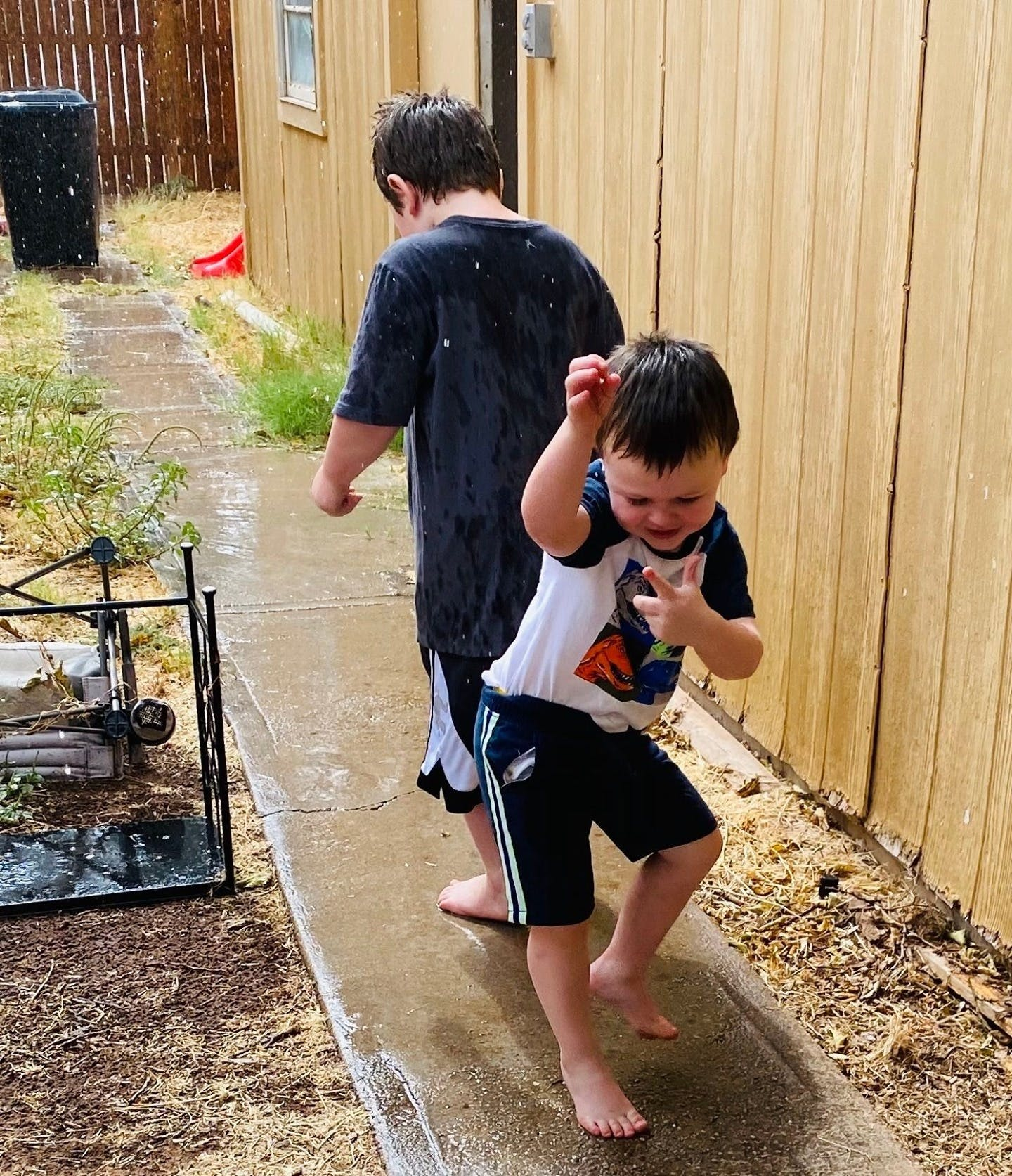 """Raising boys has made me a more generous woman than I really am."" -Mary Kay Blakely ⁣ 🎵 Dancing in the rain!! 🎵⁣ ⁣ #boymom #motherhood #momblog #momlife #mommyblogger #momsofinstagram #momlife #momsofinstagram #letthembelittle #motherhoodunplugged #uniteinmotherhood #mompreneur #childhoodunplugged #moms #modernmotherhood #momboss #wahm #sahm #making_memories #our_everyday_moments #ourtinymoments #brothers #bestfriends #brotherlylove"