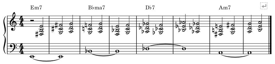 random chords ith quartal voicings