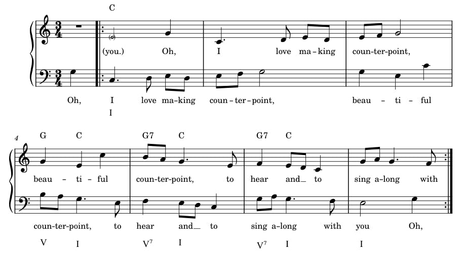 sheet music for round
