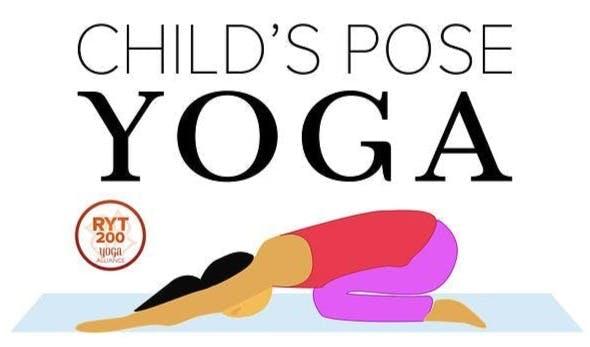 Child's Pose Yoga Logo - performing child's pose