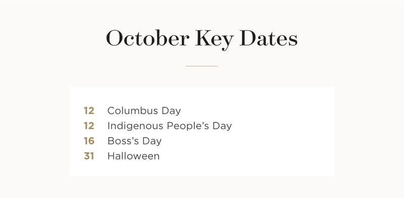 October key dates.