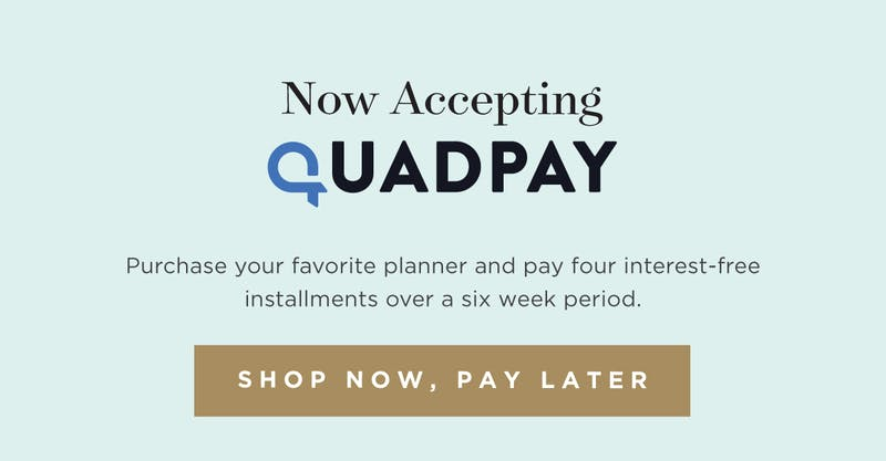 Now Accepting QuadPay.