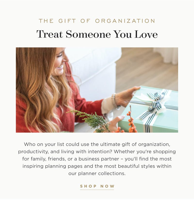 The Gift of Organization.