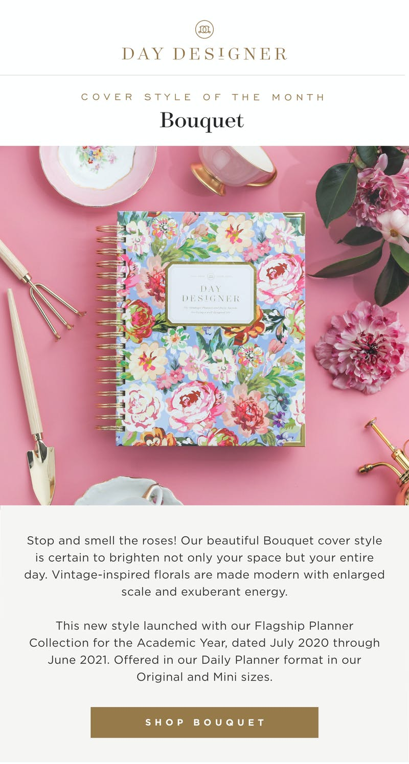 Stop and smell the roses! Our beautiful Bouquet cover style is certain to brighten not only your space but your entire day.