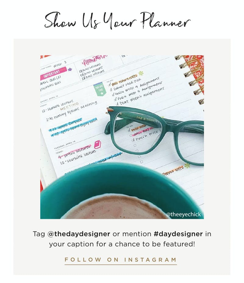 Show Us Your Planner For A Chance To Be Featured.