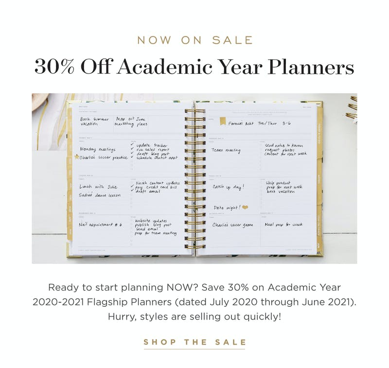 30% Off Planners.