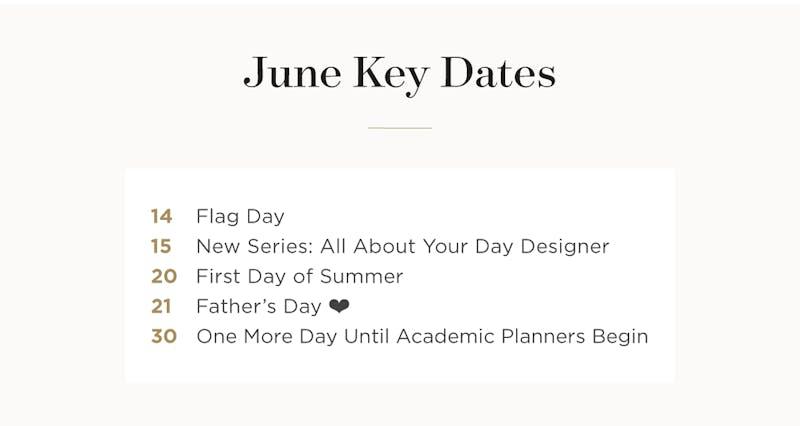 June Key Dates.