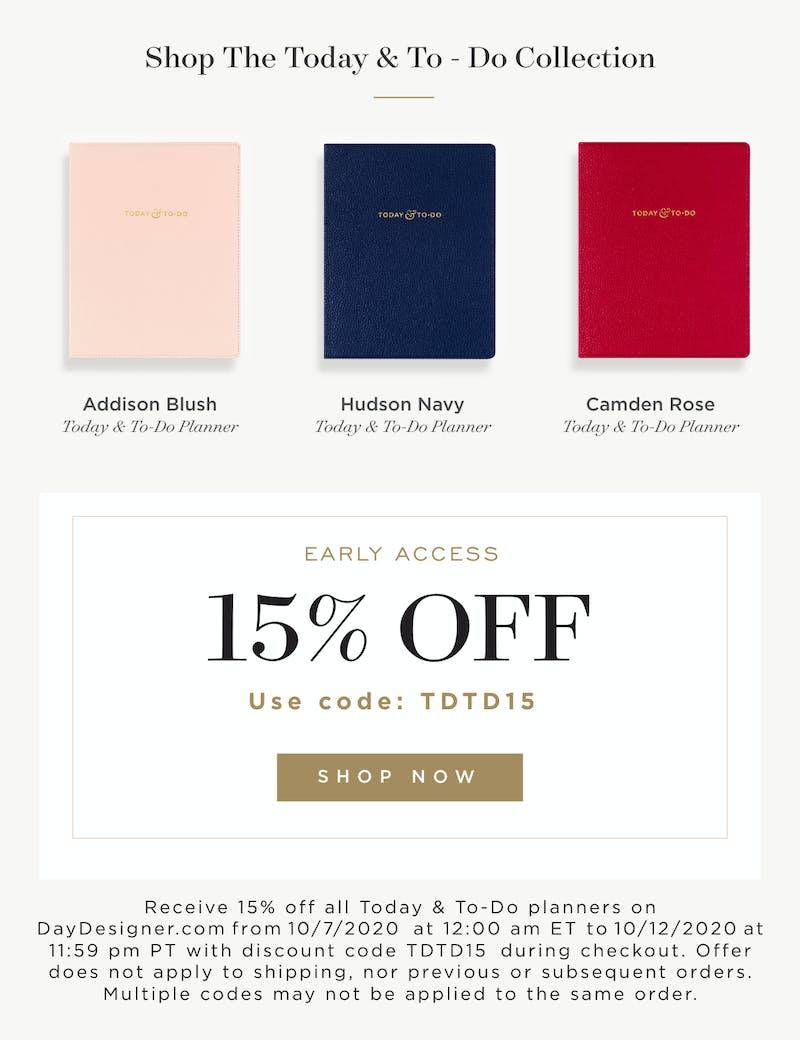 Enjoy 15% Off with Code TDTD15. Shop Now!