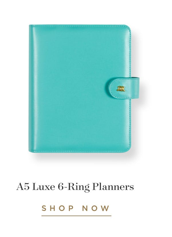 A5 Luxe 6-Ring Planners.