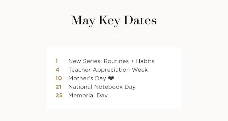 May key dates.