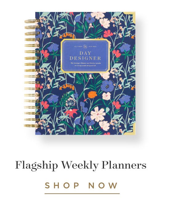 Flagship Weekly Planners.