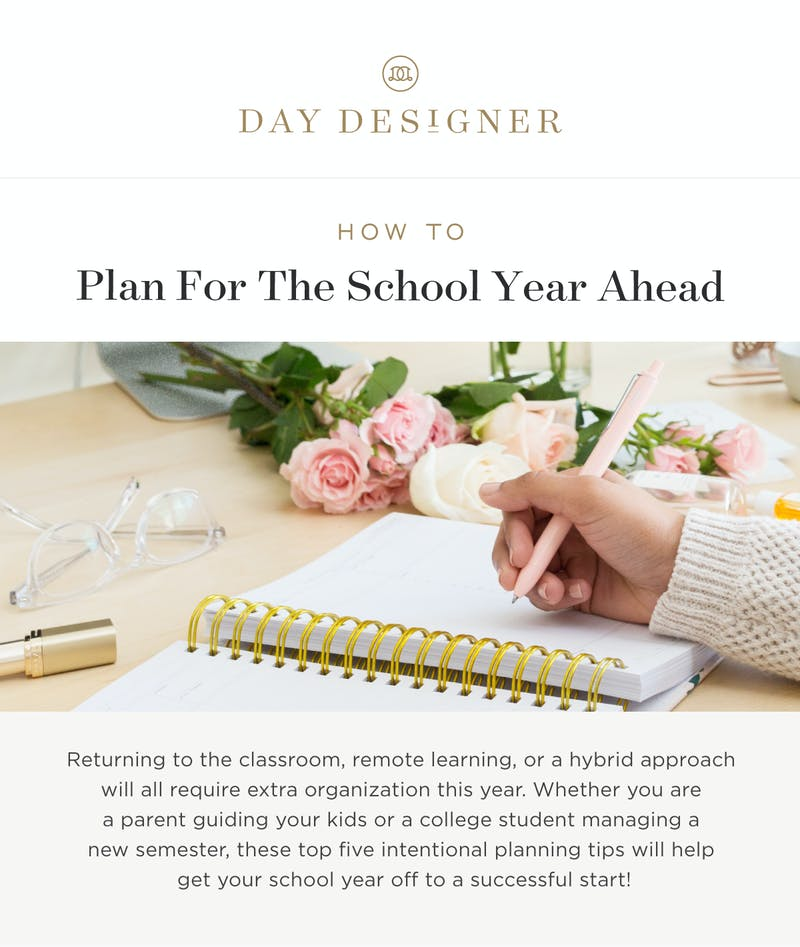 How to Plan for the School Year Ahead